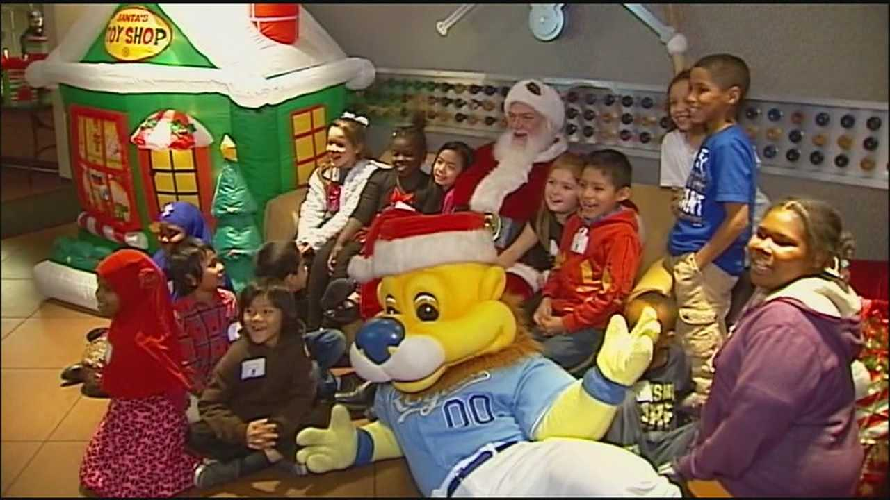 Royals Charities threw a holiday party for children who get help through three Kansas City charitable organizations.
