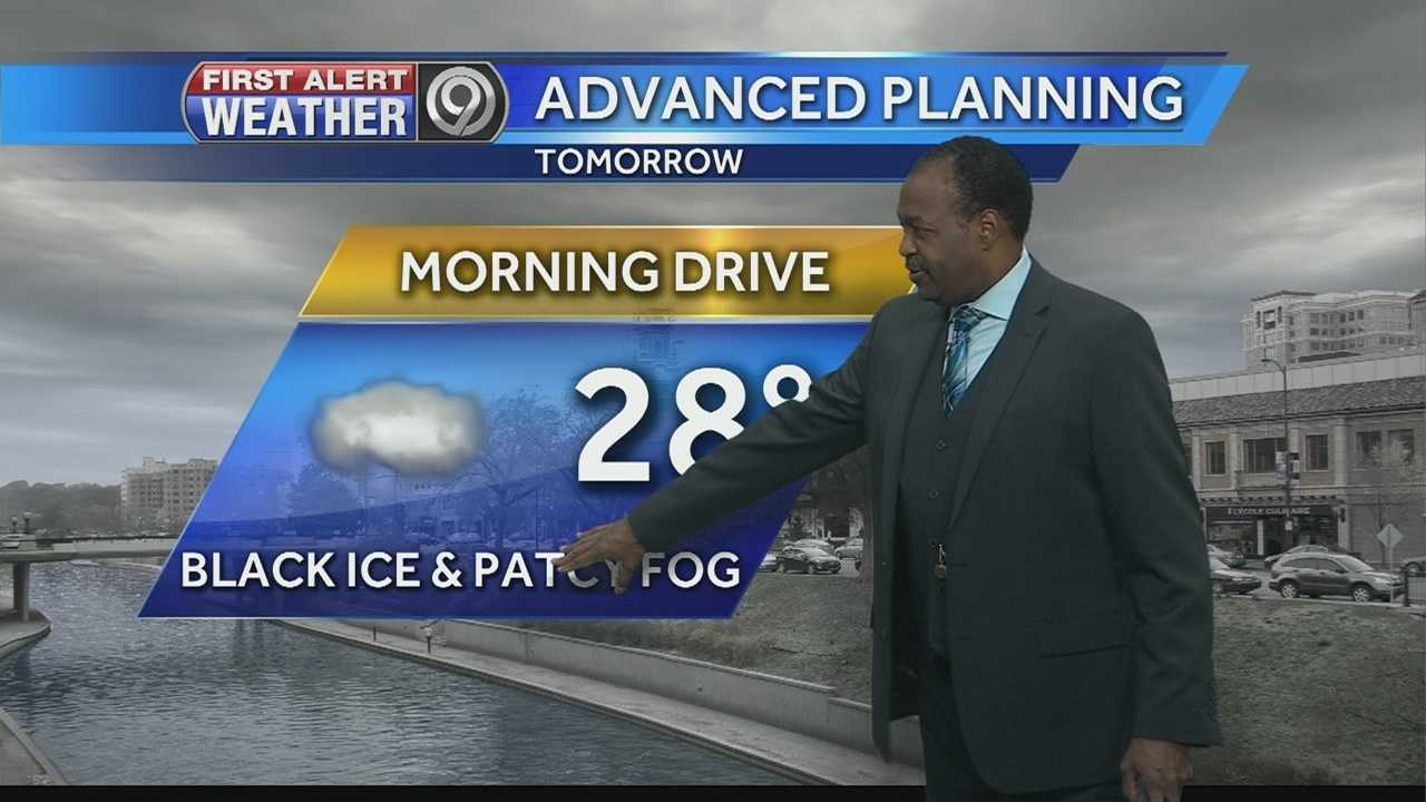 KMBC's Bryan Busby tells us why he'll be looking out for refreezing on roads and highways late tonight and early tomorrow.