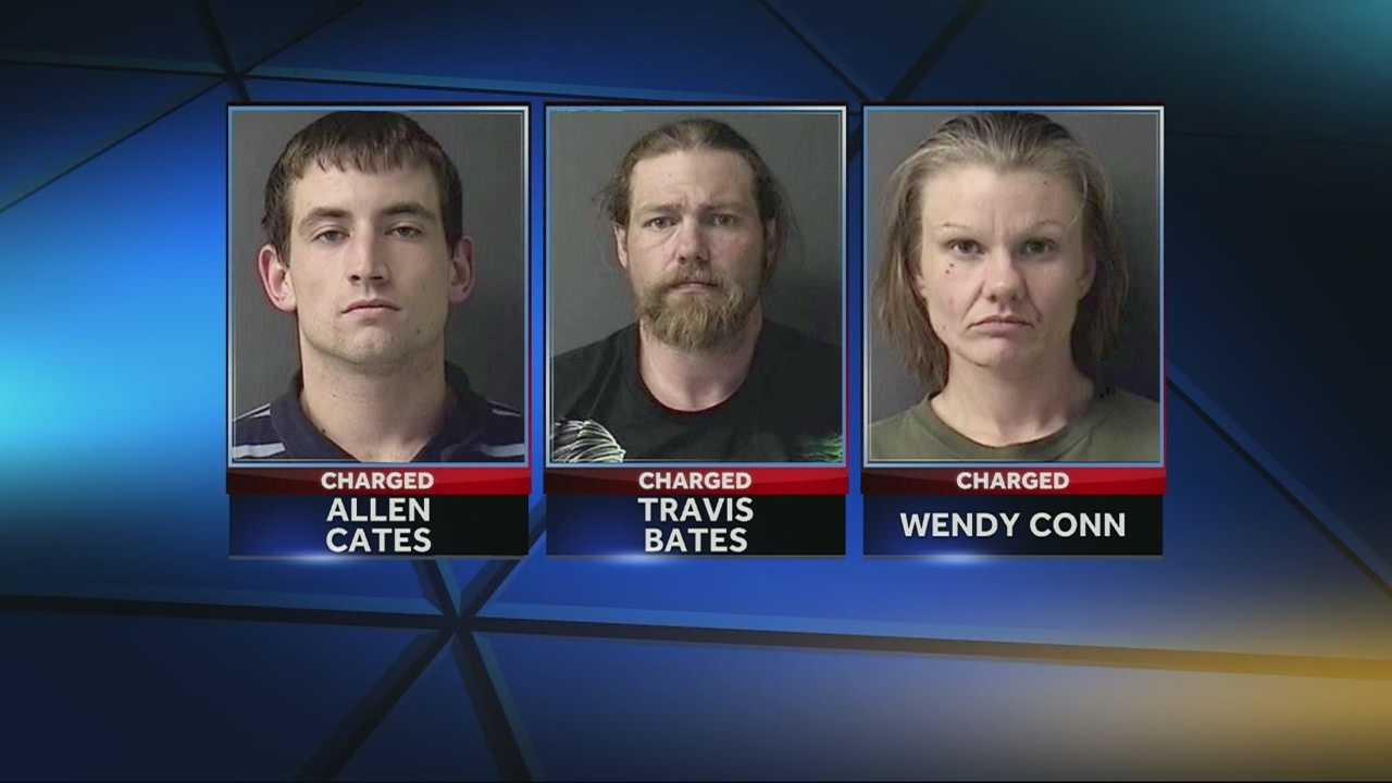 Three people are in custody, accused of stealing an Independence family's Christmas presents.