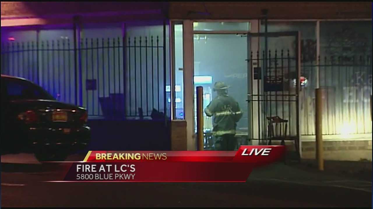 Firefighters responded to a fire at Kansas City's LC's Barbecue late Monday evening.