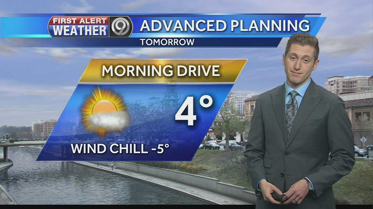 KMBC 9 meteorologist Nick Bender says single-digit temperatures and subzero wind chills will be common across the region on what will be the coldest night of the season so far.