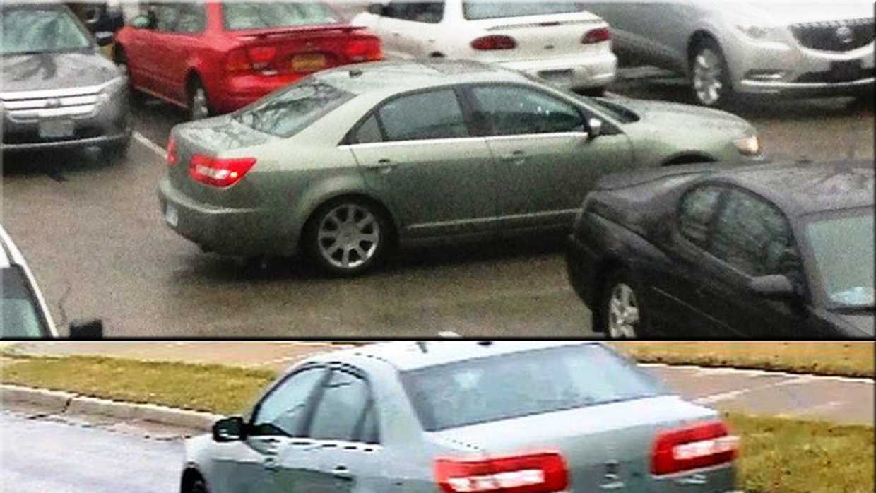 The occupants of this vehicle are suspected in several catalytic converter thefts from the parking lot of an area hospital.