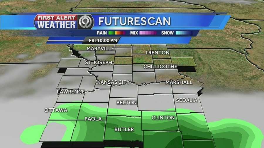 Precipitation will move in Friday evening. It will start out as rain and change over to snow Saturday.