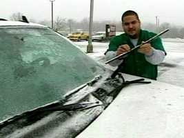 Consider using cold weather washer fluid and special winter windshield blades if you live in a place with especially harsh winter conditions.