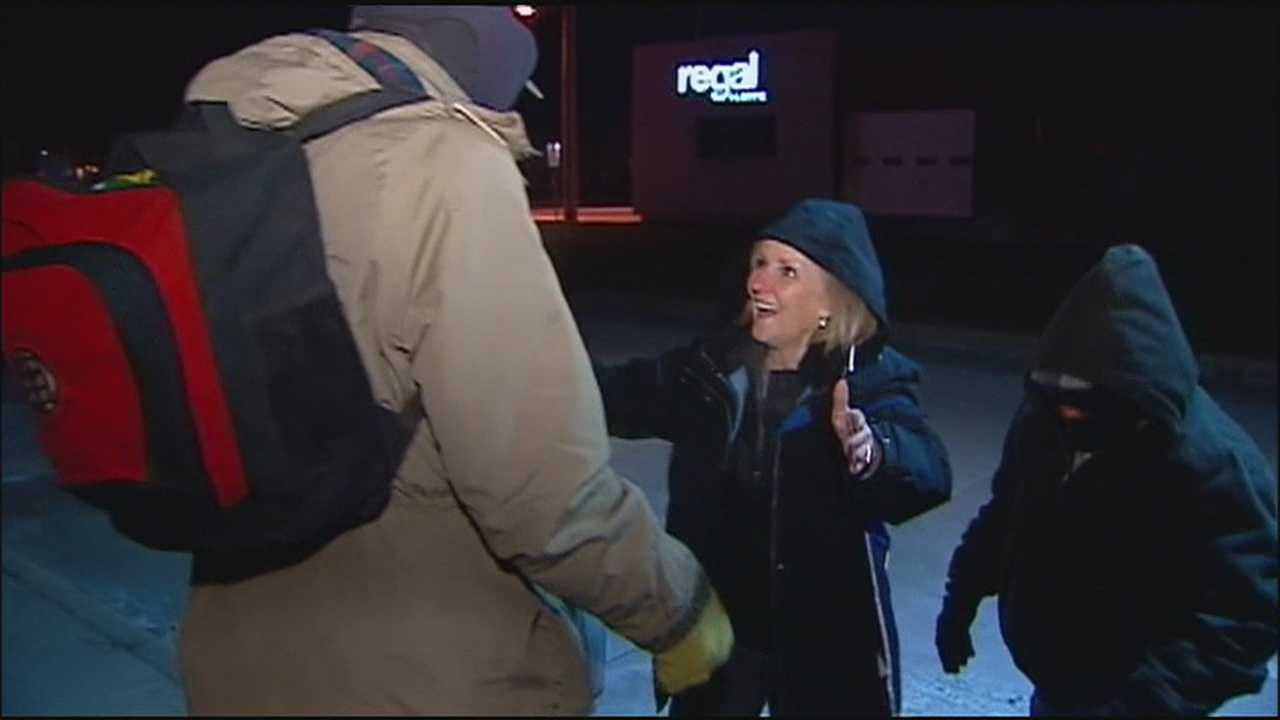 Volunteers from Uplift made their regular rounds through the cold streets of Kansas City late Wednesday, delivering food, warm clothes and messages of support.