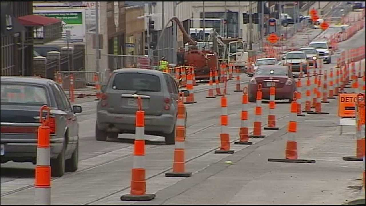 Streetcar construction in downtown Kansas City is hurting some businesses by making it tough for customers to get to restaurants and shops.