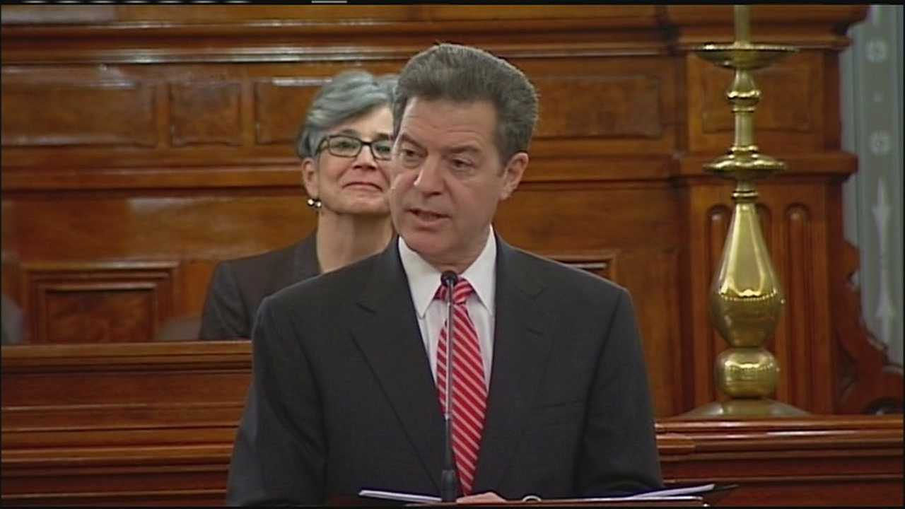 Sam Brownback, during the 2015 State of the State speech in Topeka.