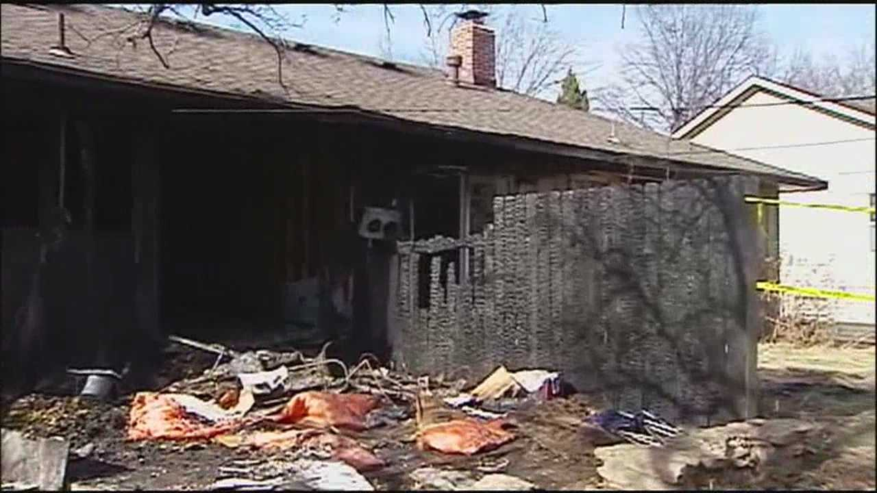 Members of two families were able to get out safely after a fire ripped through an Overland Park duplex early Monday.
