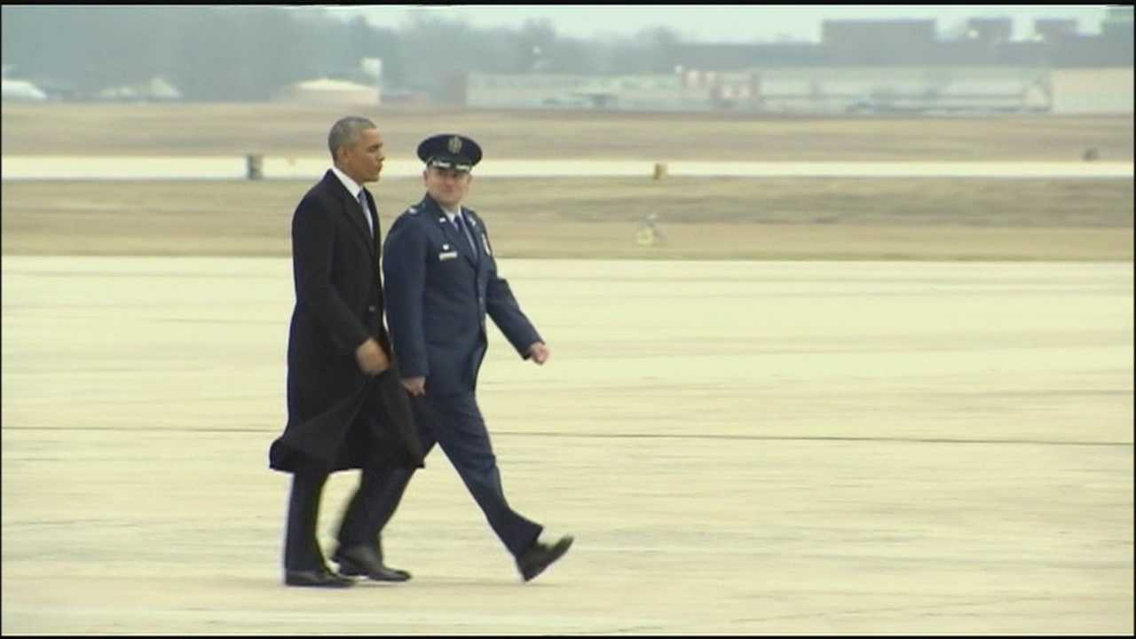 Excitement is building at the University of Kansas, as President Barack Obama heads for Topeka in advance of Thursday's speech at KU's Anschutz Sports Pavilion.