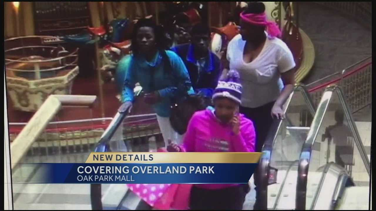 Police have released surveillance photos of four people they want to question about a robbery in the parking lot outside Oak Park Mall on Wednesday.
