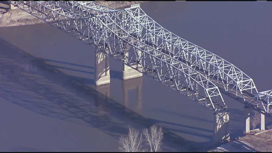 Crews detonated another section of the Fairfax Bridge on Saturday.