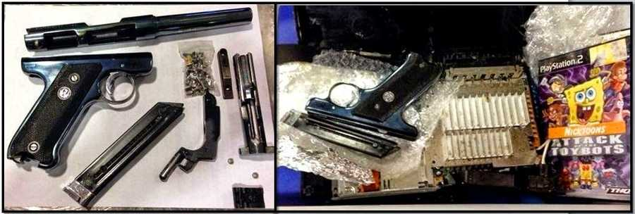 2,212firearms were discovered in carry-on bags at checkpoints across the country, according to the TSA. Adisassembled .22 caliber firearmwas discovered in a carry-on bag at John F. Kennedy International Airport. Various components of the gun were found hidden inside a PlayStation 2 console.