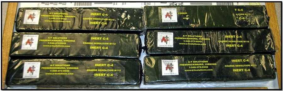 TSA: Six blocks of inert C-4 were discovered in a checked bag at Tampa.