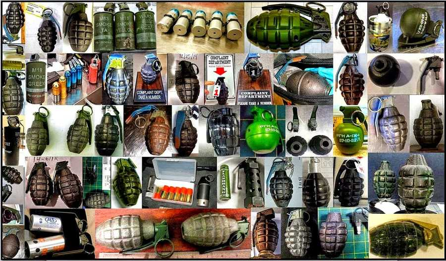 TSA: Over140inert/novelty hand grenades were discovered last year in both checked and carry-on bags.