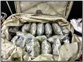 TSA: 80 pounds of marijuana was discovered in a checked bag at the McClellan-Palomar Airport in California.