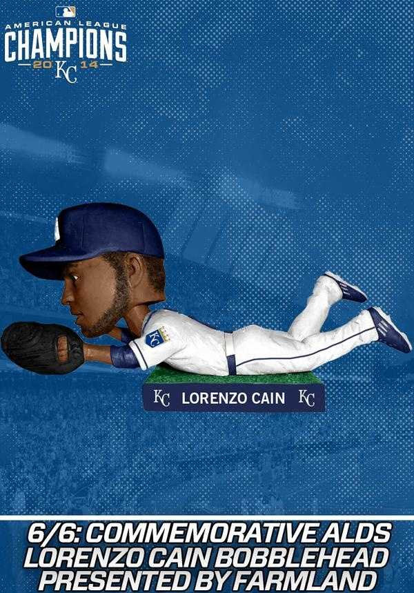 -6/6: Lorenzeo Cain commemorating the 2014 ALDS