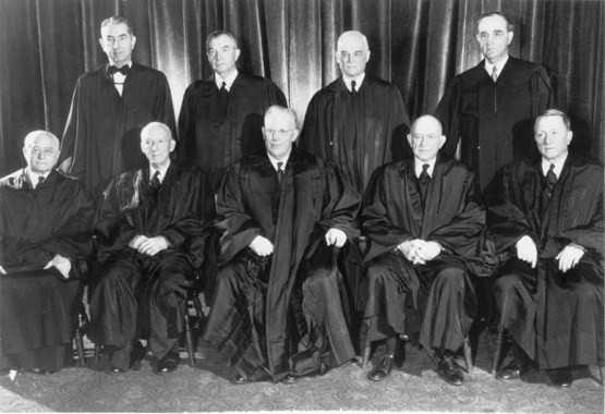 """The landmark Supreme Court case that abolished """"separate but equal"""" laws for black and white students in schools, commonly known as Brown v. Board of Ed., started in Topeka, Kansas.The Warren Court (pictured here) issued a decision stating that """"separate educational facilities are inherently unequal."""" This major civil rights victory paved the way for integration."""