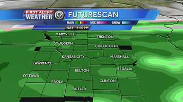 Rain on Saturday is expected to change over to snow heading into Sunday.