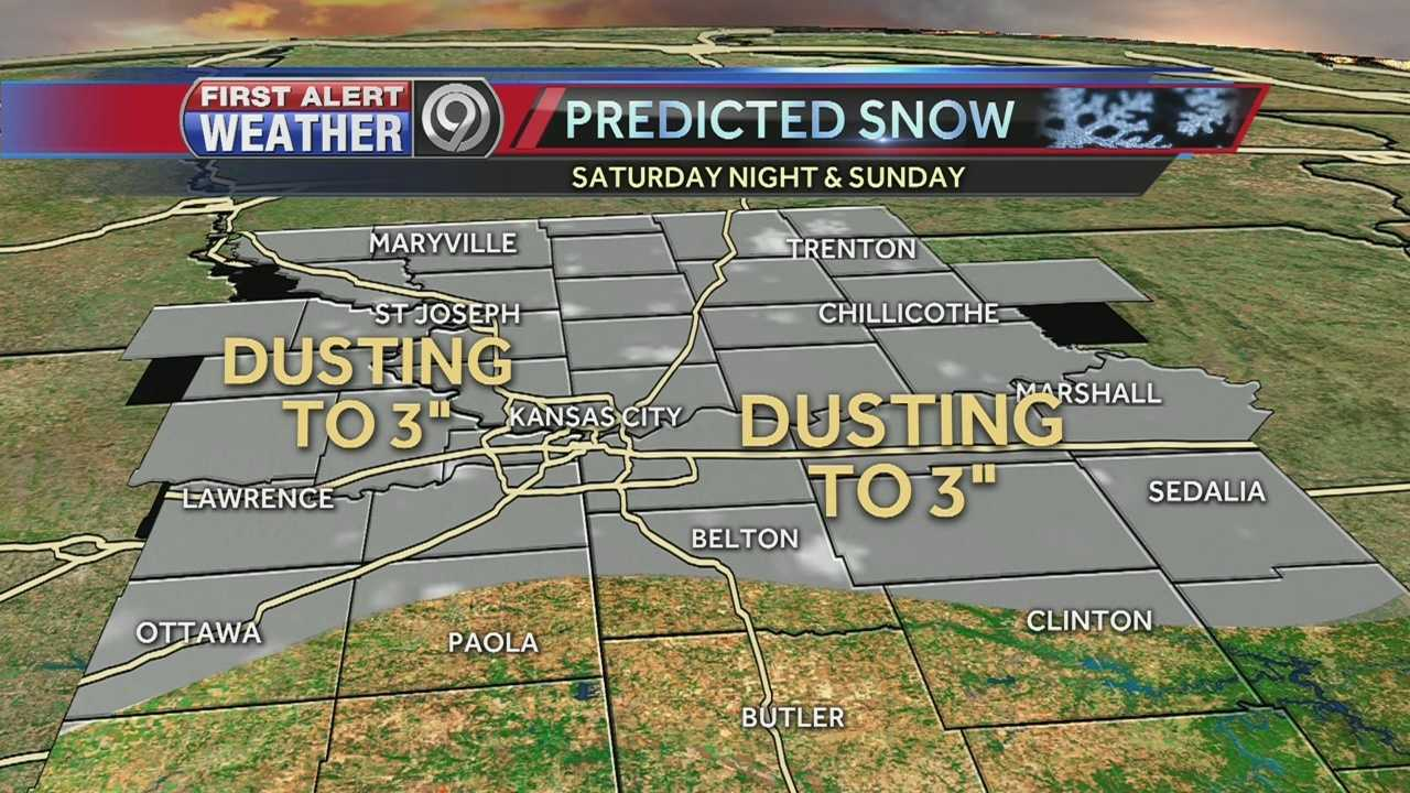 The Kansas City area could see between a dusting and 3 inches of snow.