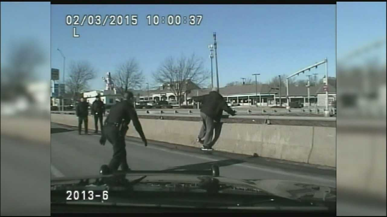 Grandview police officers help rescue a distraught man who appeared ready to harm himself.