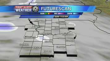 Light snow will work its way into the Kansas City area Sunday morning. The metro could see between a dusting and 2 inches of snow.