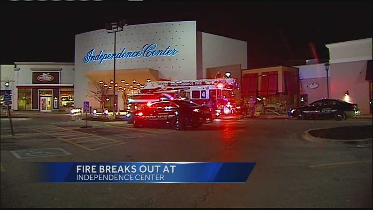 Independence Center is expected to reopen about noon Sunday after leaves in an air duct caught fire Saturday and sent smoke into the facility.