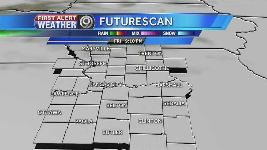 A wintry mix is expected to move in Friday night into Saturday morning.