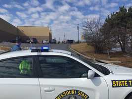 Authorities evacuated a Walmart in Raymore following a police pursuit Saturday.