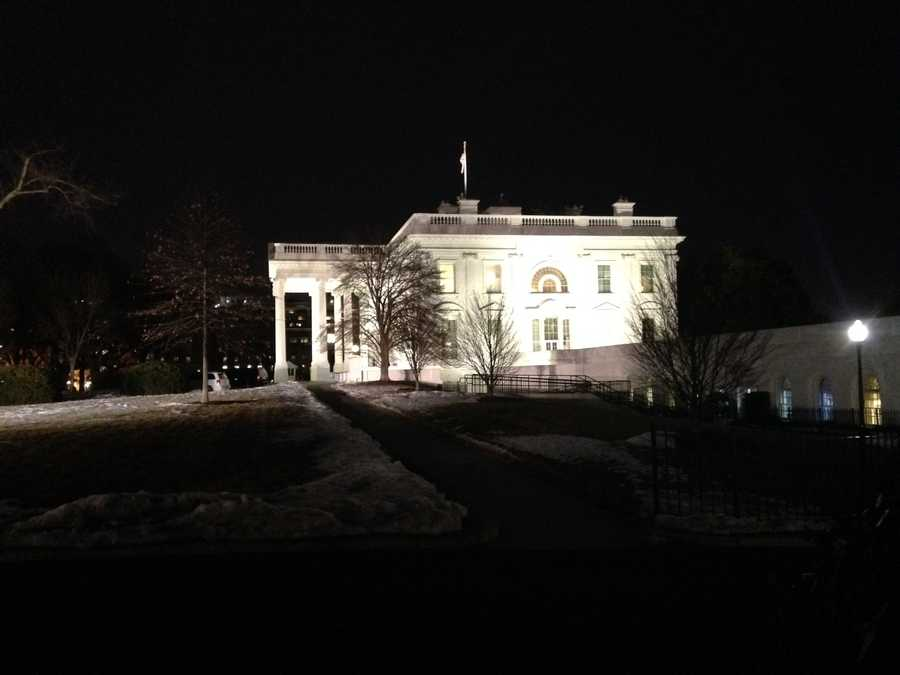 The White House lawn early Thursday morning.