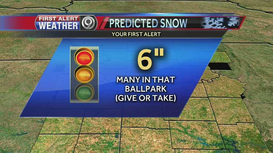 Many people could see 6 inches of snow this weekend, give or take higher or lower amounts in some areas.