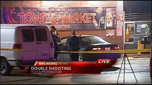 Two people were shot, one died, in a shooting late Wednesday in Kansas City.