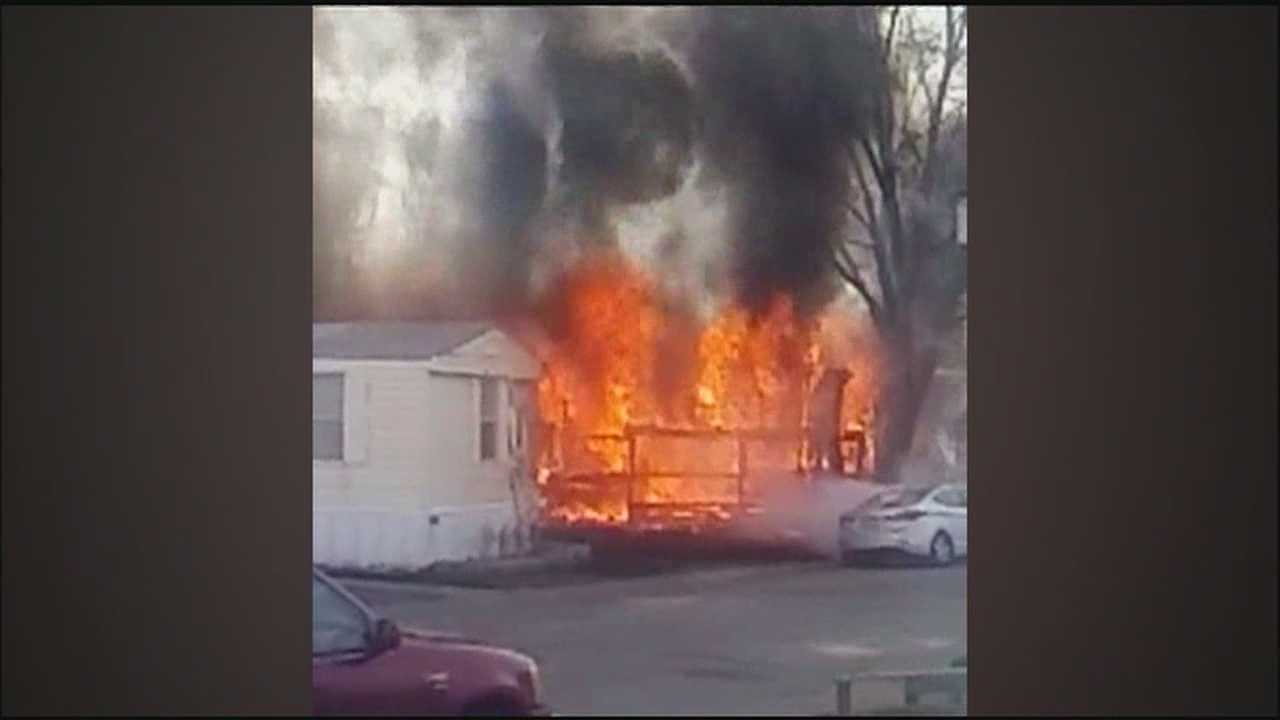 Two families will have to start over without insurance after a fire burned two mobile homes in a Claycomo community.