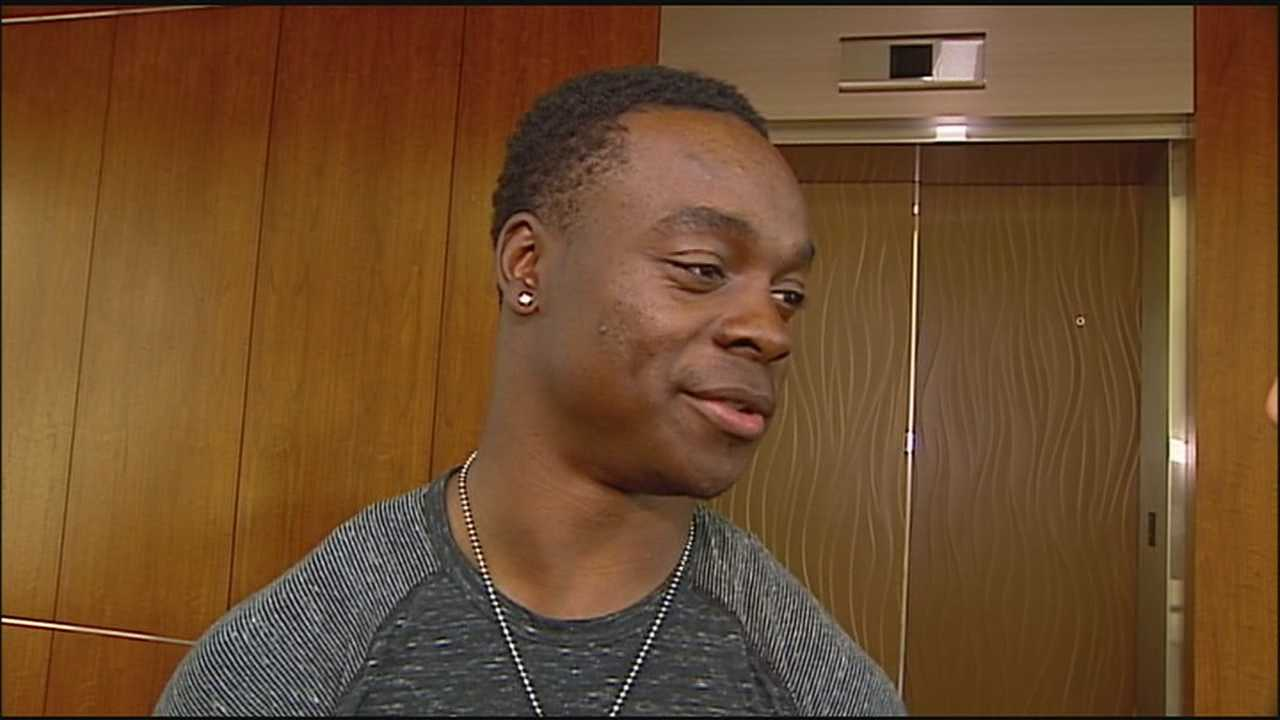 Former Missouri Tiger and new Kansas City Chief receiver Jeremy Maclin said he's pleased to be back in Missouri and reunited with former Eagles coach Andy Reid.