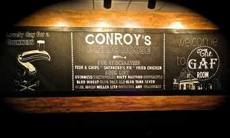 Conroy's Public House: (26 reviews, 4 stars)With unique Irish menu items, Conroy's has quickly become one of Yelpers' favorite pubs in Overland Park, KS. The friendly crew here takes good care of their patrons, and the cozy atmosphere allows strangers to become friends over fish & chips and a pint of Guinness.