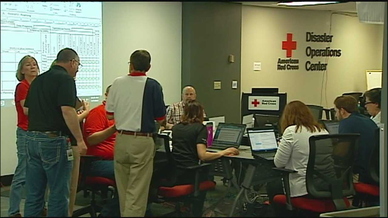 With storm season firing up, the Red Cross simulated what it would do in the event of a major tornado outbreak in the Kansas City metropolitan area.