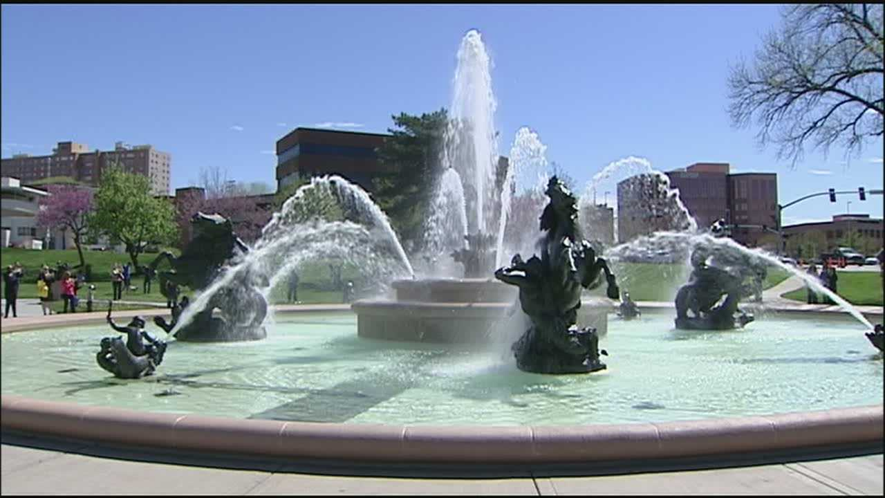 Kansas City has turned on its fountains for the year, including the iconic J.C. Nichols Memorial Fountain that underwent extensive renovation and repairs over the winter.