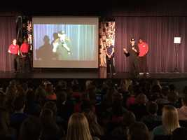 KMBC's FirstAlert Weather Team visited with students at Prairie Trail Middle School in Olathe on Wednesday.
