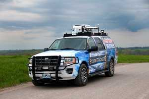 First Alert meteorologists take StormTracker 9 for a spin during recent testing.