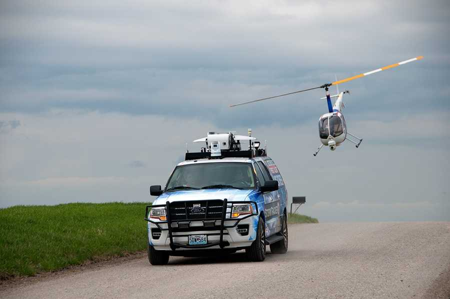 StormTracker 9 and NewsChopper 9 during recent testing in Johnson County, Kan.