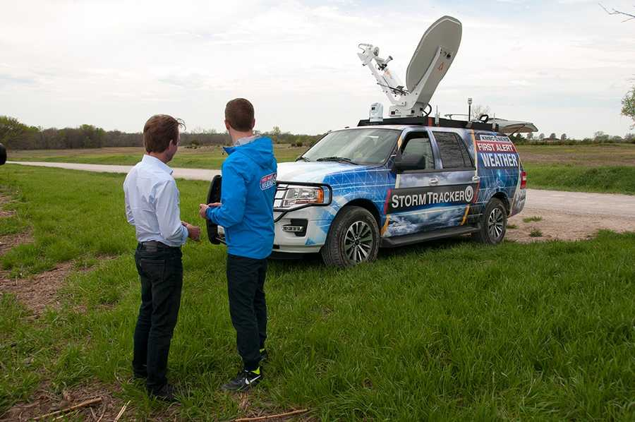 Testing StormTracker 9 in a Johnson County, Kan. field.