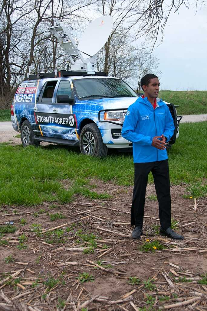 KMBC Meteorologist Neville Miller with StormTracker 9