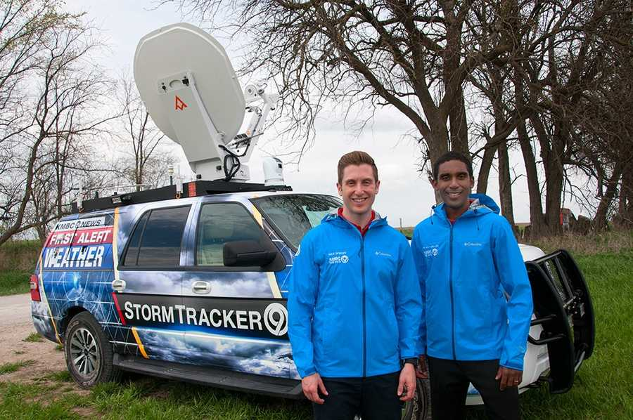 KMBC Meteorologists Nick Bender and Neville Miller with StormTracker 9