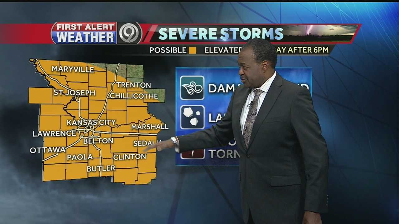 KMBC's Bryan Busby tells us when and where severe storms could develop for your Friday.