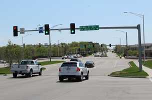 2.  Eastbound I-435 Highway at Quivira Road. Overland Park police gave 163 tickets in this area last year.