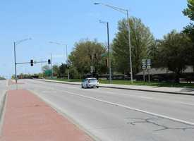 5.  Northbound U.S. 69 Highway at West 103rd Street.  Overland Park police reported 99 tickets given at this intersection in 2014.  Note:  Vehicles pictured were not ticketed.