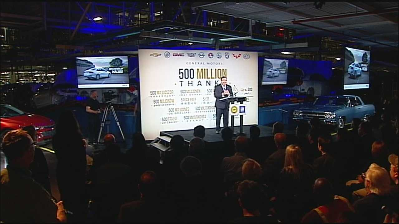General Motors celebrates the recent production of the company's 500 millionth vehicle with an announcement about a big investment in its Fairfax Assembly Plant in Kansas City, Kansas.