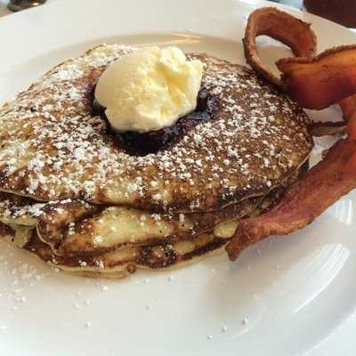Westport Cafe & Bar: (4 stars, 202 reviews)Keeping with the French cuisine, this hip spot in Westport offers a creative brunch menu. The most recommended item from Yelpers are the fluffy Lemon Ricotta pancakes.