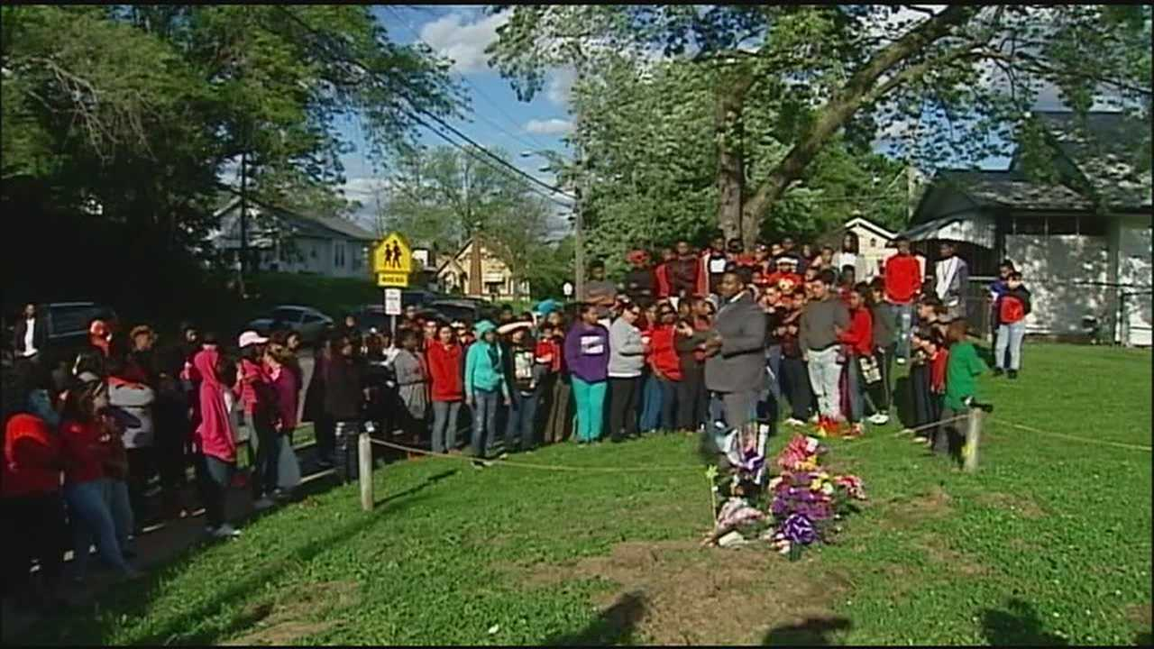 A vigil to remember a high school junior killed in a car wreck last week was interrupted Monday evening when someone thought the person responsible for the crash was in the crowd.
