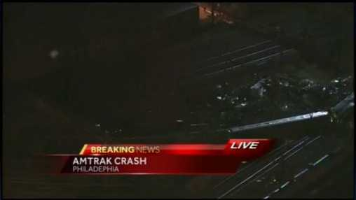 An Amtrak train headed to New York City derailed and crashed in Philadelphia on Tuesday night.