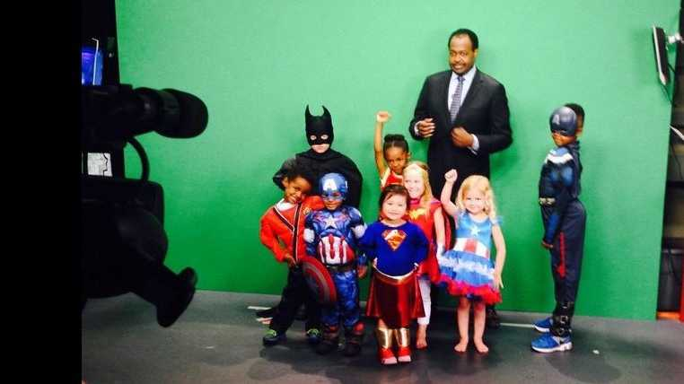 A few little friends of CASA of Johnson andJackson counties made a guest appearance at KMBC 9 News on Wednesday.